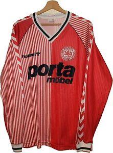 DENMARK World Cup 1986 HOME Football Shirt Jersey HUMMEL size XL Tricot Camiseta