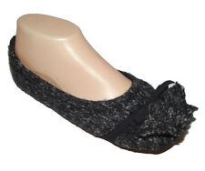 New Black Gray Restor Memory foam comfort Ballet slippers scuffs women SZ XS 5 6