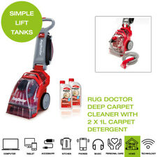 Rug Doctor Deep Carpet Cleaner with 2 x 1L Carpet Detergent