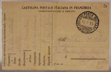 POSTA MILITARE 24^ DIVISIONE 16.7.1916 #XP272E