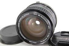 Minolta MC W.Rokkor-SG 28mm f/3.5 Fix Wide MF Lens For MD [Excellent] w/ Caps JP