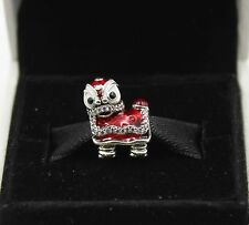 AUTHENTIC PANDORA Limited Edition Chinese Lion Dance Silver Charm 792043CZ #411A