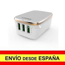 Cargador Pared LDNIO 3 USB Carga Rápida 3.4 A Mas Cable Para Iphone a2804