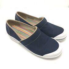 Dansko Women's Vegan Blue Denim Nursing Slip On Clogs Shoes Sz 41 EUR 10.5-11 US