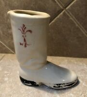 Vintage Shawnee? Pottery Boot Vase Marked USA 4.5""