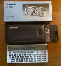 ORDINATEUR DE POCHE - sharp PC-1500 - avec son étui et sa boite d'origine