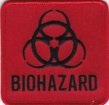 """10 BIOHAZARD (Black/Red) Embroidered Patches 3""""x3"""""""