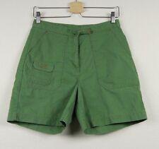 Women's LL Bean Shorts Cargo Green Cotton Blend Size 8 Reg EUC