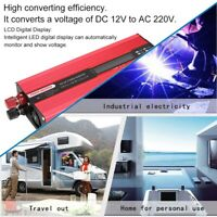 Inversor de corriente coche DC 12V a AC 220V 6000W USB Convertidor Conversor