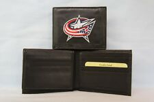 COLUMBUS BLUE JACKETS Embroidered Leather BiFold WALLET  New  nl