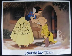 Adriana Caselotti Voice of Disney Snow White Signed 11x14 Glossy Photo