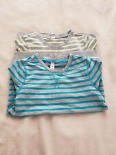 old navy girls striped sweatshirt, gray blue yellow, set of 2, size M (8)