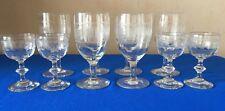 6 anciens verres à vin en Louis Philippe cristal de BACCARA+4 verres à liqueur