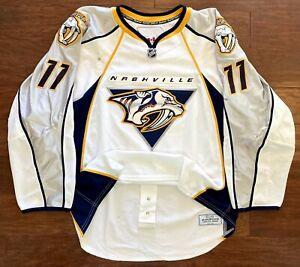 Nashville Predators David Legwand Game Worn Used NHL Hockey Jersey Reebok Edge