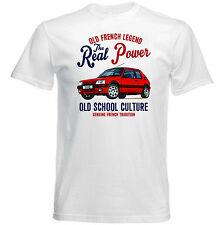 VINTAGE FRENCH CAR PEUGEOT 205 GTI 1 - NEW COTTON T-SHIRT
