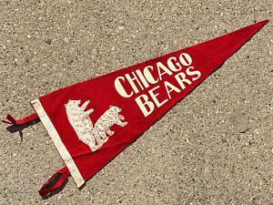 """Vintage Chicago Bears Football Circa 1960's 29"""" Felt Pennant"""