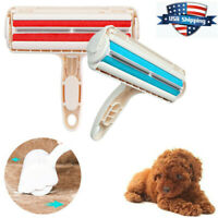 Reusable Dog Cat Hair Remover Cleaner Lint Fur Roller Pet Shedding Brush Tool US
