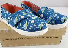 NIB TOMS Glow In the Dark Blue Outerspace Planets Toddler Girls Boys Sz Tiny 8