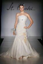 *Avine PERUCCI,ST.Pucchi BRIDAL Gown,dress #543,sz 12,IVORY,EMBROIDERED,NEW,10*