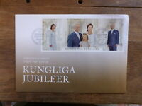 SWEDEN 2016 ROYAL ANNIVERSARY MINI SHEET FDC FIRST DAY COVER