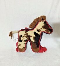 Bigtime Barnyard Horse Backpack Brown Plush Stuffed Animal Bag 14""