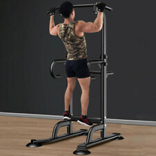 Power Tower Dip Station Chin Up Bar Pull Push Home Gym Fitness Core Equipment US