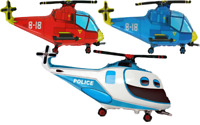 Helicopter Hubschrauber Polizei Luftballons xl Folienballon Helium Party Deko
