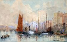 19th Century 'View of Old Whitby', Giclée Art Print of original vintage painting