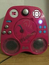Barbie Light up speakers Karaoke Machine with CD player and radio 2 microphones