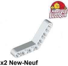 Lego Technic 2x Brique Brick 1x8 hole blanc//white 3702 NEUF