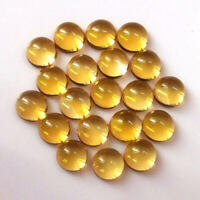 SALE!! Wholesale Lot of Natural Citrine 10x10 mm Round Cabochon Loose Gemstone