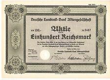 Deutsche Landvolk Bank AG 100RM  Berlin 1939