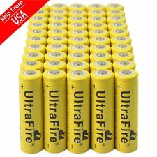 50pcs 3.7V 18650 9800mAh Li-ion Rechargeable Battery For cell Flashlight Torch