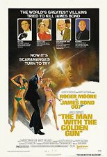 James Bond: * The Man with a Golden Gun * Roger Moore USA  Movie Poster 1974
