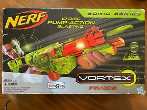 Brand New Nerf Vortex Praxis Sonic Series Clear Green In Box