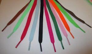 Flat Shoe Laces Shoelaces - 120cm Long. Many Colours Neon - Boots Trainer Shoes