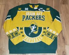 NWT Green Bay Packers NFL Green Crew Neck Sweater 2XL $70 Men's cotton FREE SHIP