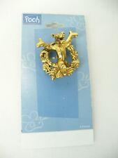 Disney  Pooh  Tigger  Gold Tone Brooch Wreath  USA Seller