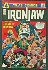 IRON JAW. NO 4. KEY BRONZE AGE 1975 ATLAS COMICS ISSUE. ORIGIN ISSUE.