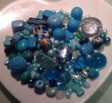 Turquoise Beads  Mixed Bead Collection * Job Lot * 206 grams