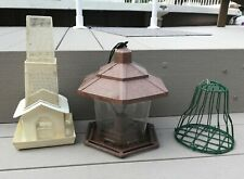 3 used Bird Feeders, 2 for seed & 1 for Suet.