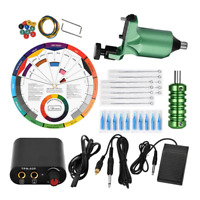 Tattoo Kit Professional 49Pcs Complete Rotary Machine Power Supply