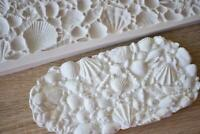 SM1270 Sea Shells Border Silicone Mould Mold Paperclay Cake fondant sculpting
