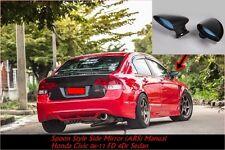 Spoon Style Sport Black Side Mirrors (ABS) Manual Honda Civic 06-11 4Dr Sedan