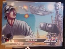 Topps Star Wars Illustrated A New Hope #5 Battle In Space MINT