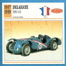 SCHEDA TECNICA AUTO DA COLLEZIONE - DELAHAYE TIPO 145 1937-1939
