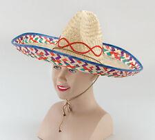 Sombrero  spanish   Mexicano Sombrero de Paja Unisex Fancy Dress 64f6b54634b