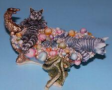 "Harmony Kingdom box ""Tartuffe & Teaser's Tub"" cats bathing, 2003 Clair de Lune"