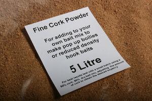CORK GRANULES dust powder for fishing bait pop up boilie mix 5 Litres BULK