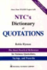 National Textbook Language Dictionaries: NTC's Dictionary of Quotations by Robin